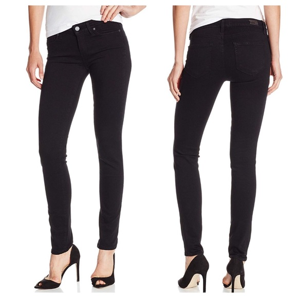 PAIGE Denim - PAIGE Skyline Skinny Jeans in Black Shadow